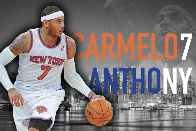 ... Carmelo Anthony - New York City Skyline by dixoncider123