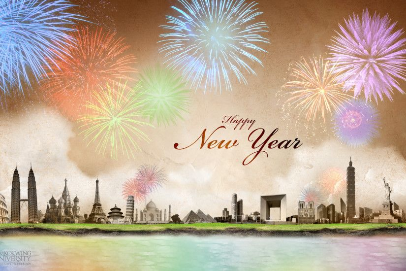 1920x1200 Worldwide New Year Celebration