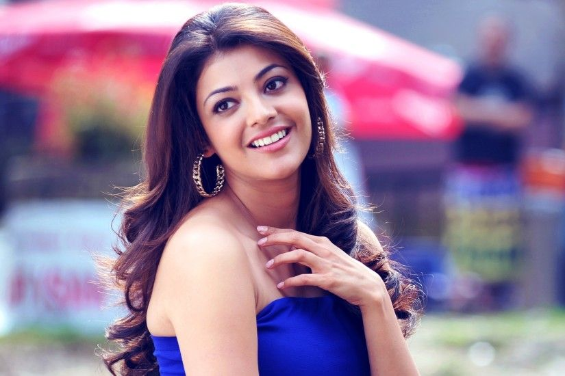 2560x1600 Kajal Agarwal In Blue Top With Smiley Face Widescreen HD Wallpaper,  Bollywood Actress Images