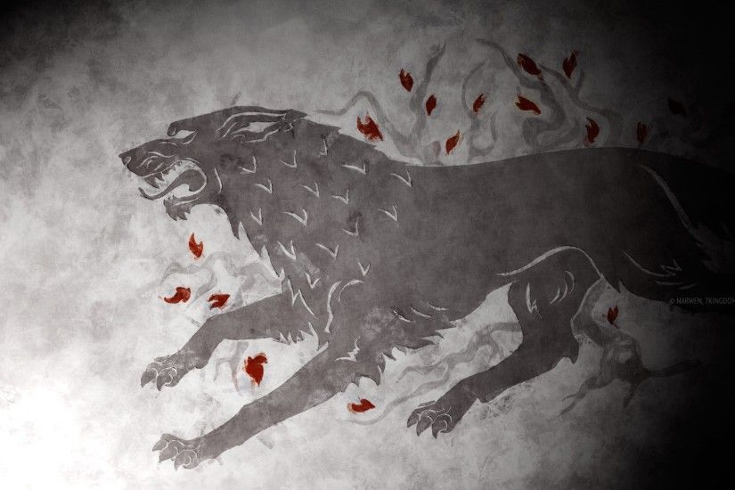 A Song Of Ice And Fire Fan Art Game Thrones HBO House Stark Sigil