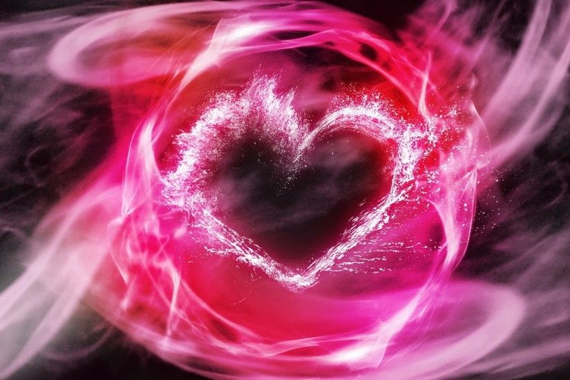 Download now full hd wallpaper heart pink smoke spray ...