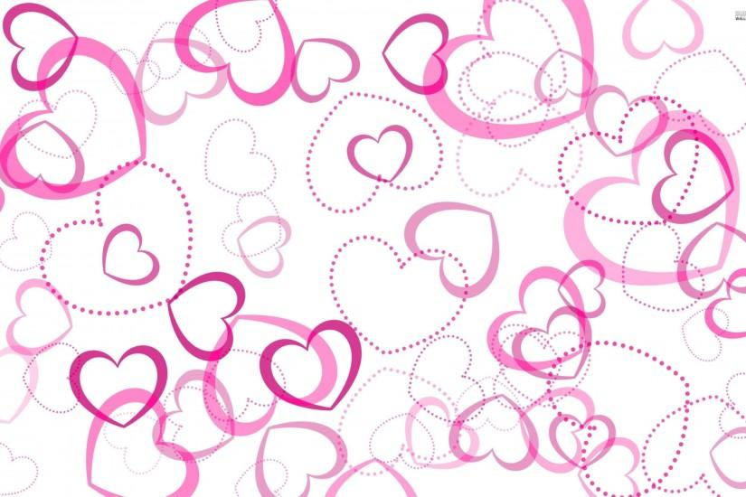 Pink Heart Desktop Background Wallpaper | imagefully.com