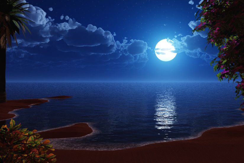 Nature Beautiful Moon Wallpaper nature-beautiful-moon-hd-desktop-wallpaper -background