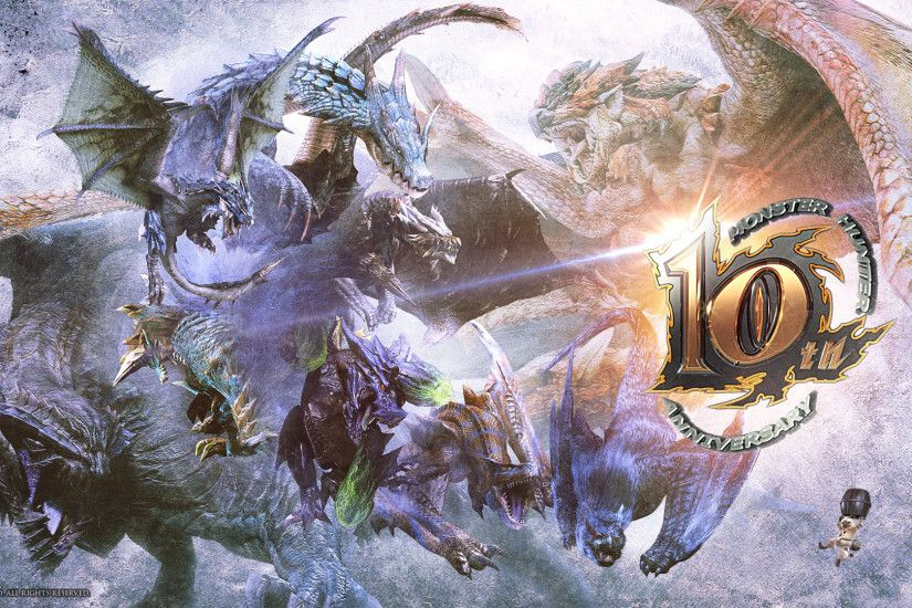 Image - MH 10th Anniversary-Official Wallpaper 001.jpg | Monster Hunter  Wiki | FANDOM powered by Wikia