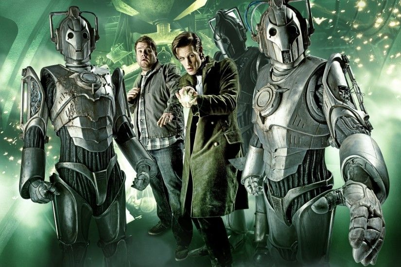 doctor who doctor who the eleventh doctor matt smith matt smith cybermen  cyberman cyborgs tv series