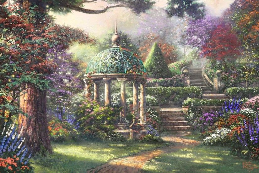 Art Wallpaper Set 14 (Thomas Kinkade Paintings #3 .