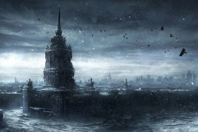 jonasdero_deviantart_com Moscow Ruins post apocalyptic apocalypse  destruction war nuclear bomb invasion dark horror evil creepy spooky
