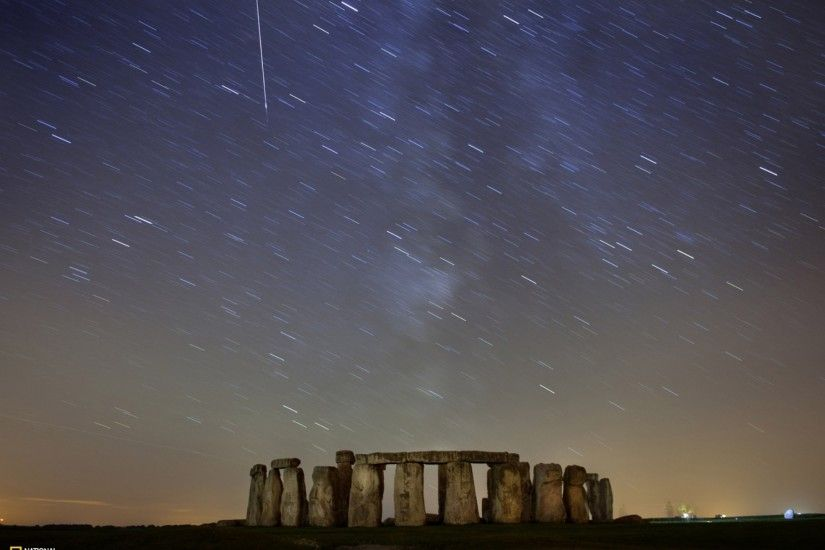 landscapes nature stonehenge national geographic long exposure meteor shower  1920x1440 wallpaper Art HD Wallpaper