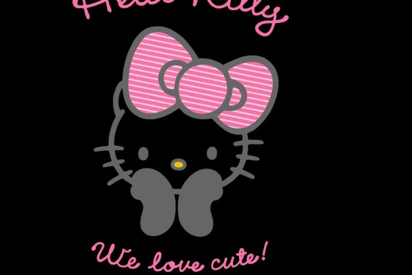 Download Black 2048 x 2048 Wallpapers - 4583284 - cute pink cartoon hello  kitty | mobile9