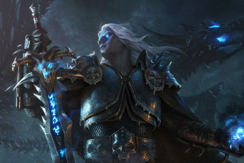 Lich King, Arthas Menethil, World of Warcraft, Warcraft III, Dragon  Wallpapers HD / Desktop and Mobile Backgrounds