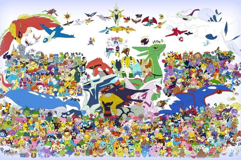 HD All Pokemon Wallpaper. Image of All Pokemon.