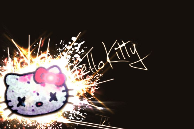 Hello Kitty Black Wallpapers Hd Resolution