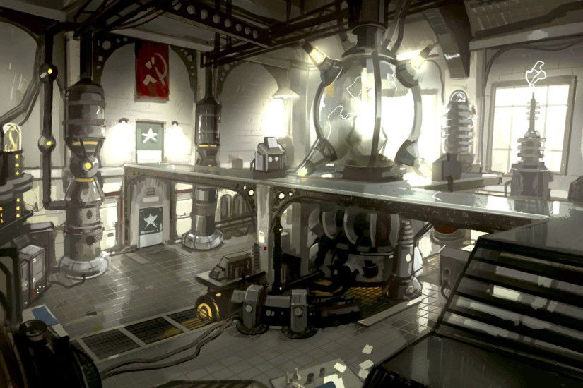singularity soviet laboratory widescreen hd wallpaper