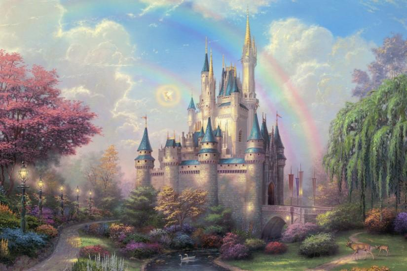 Preview wallpaper disneyland, park, art, fairy, painting 3840x2160