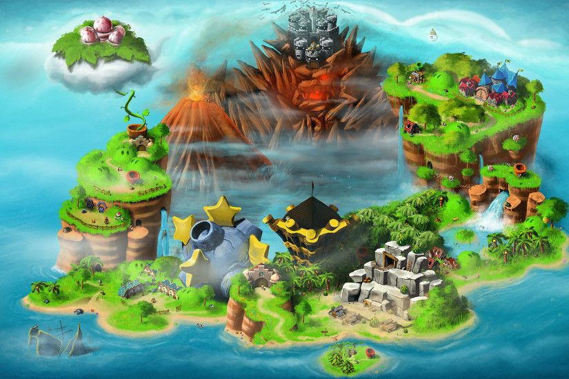 Mario Bowser maps Super Mario RPG: Legend of the Seven Stars wallpaper |  1920x1080 | 185007 | WallpaperUP