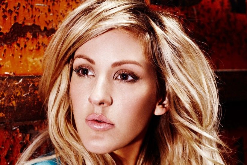 Preview wallpaper ellie goulding, singer, celebrity, blonde, makeup  3840x2160