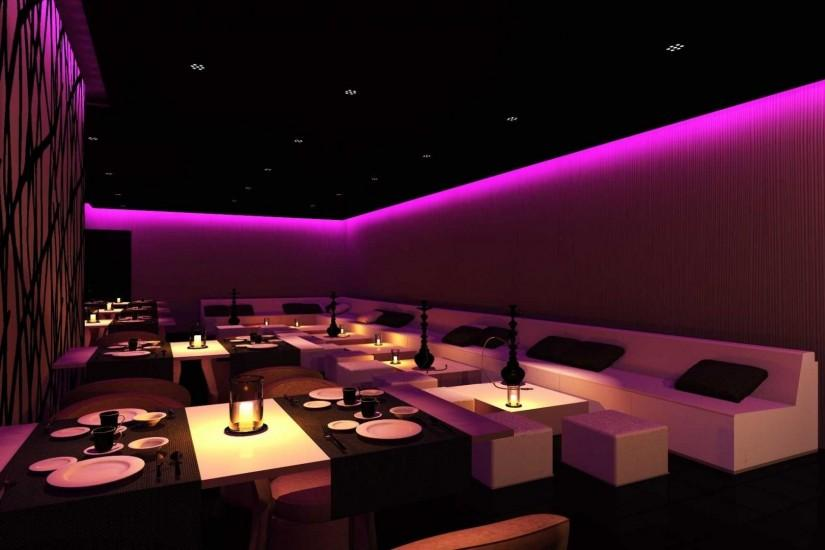Bar Lighting Night Club Torino Neon Lounge Wallpaper