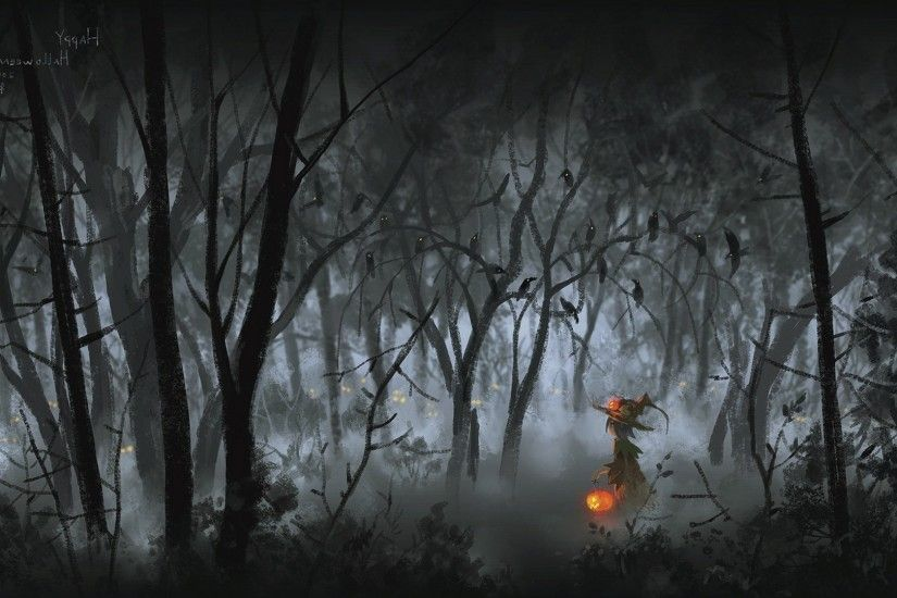 Backgrounds For Halloween Forest Background | www.8backgrounds.com