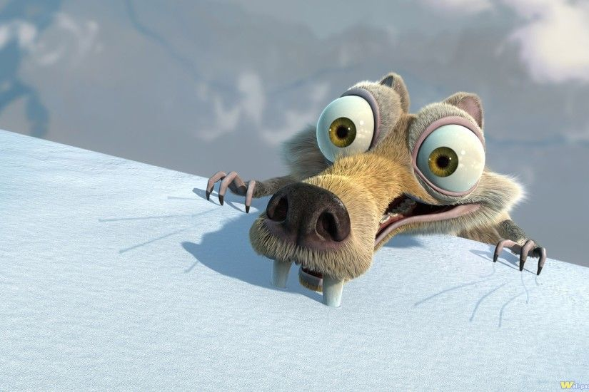 3D Cartoon Ice Age Funny Wallpaper.