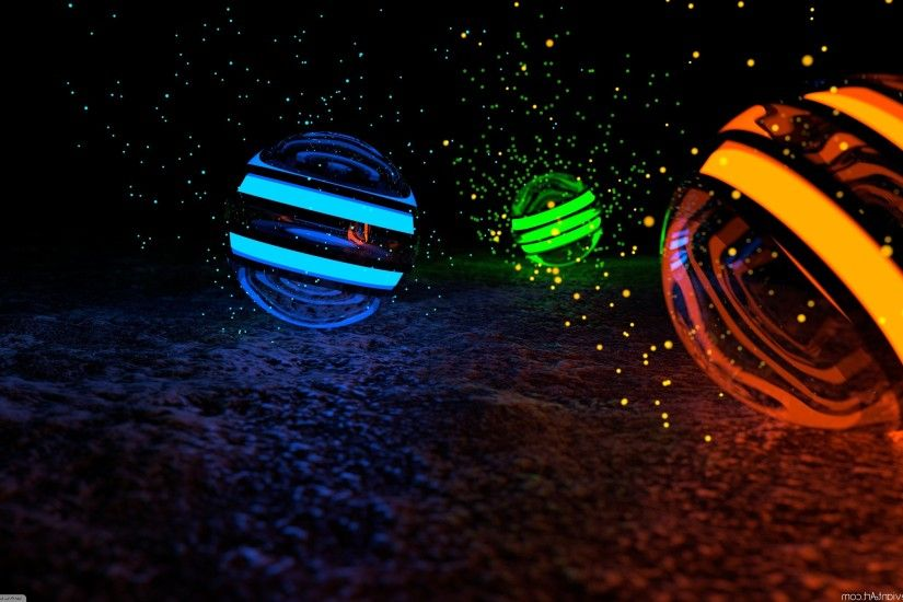 CGI, Sphere, Orange, Blue, Green Wallpapers HD / Desktop and Mobile  Backgrounds