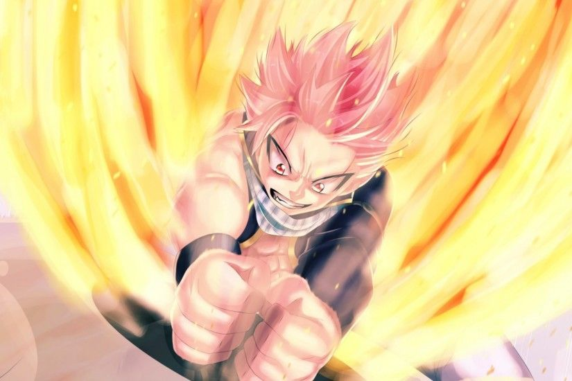 Preview wallpaper fairy tail, natsu dragneel, man, anger 1920x1080