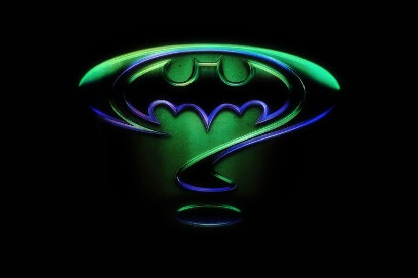 Movie - Batman Forever Batman Symbol Riddler Symbol Wallpaper