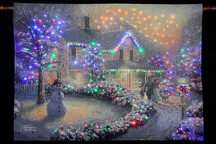 thomas kinkade christmas wallpaper windows ...