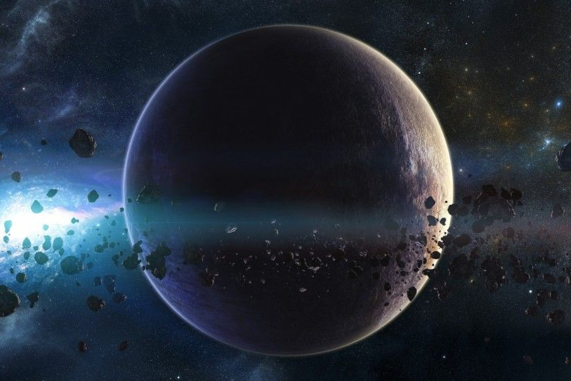 1920x1080 Wallpaper space, planets, asteroids, stars, belt, galaxy