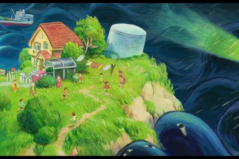 ... ponyo fish wallpaper; melba brook ponyo backgrounds for widescreen  1920x1080 px ...