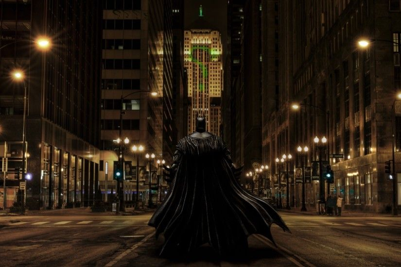 Batman, The Riddler, Fan Art, Gotham City, Chicago, Photoshopped, The Dark  Knight Wallpapers HD / Desktop and Mobile Backgrounds