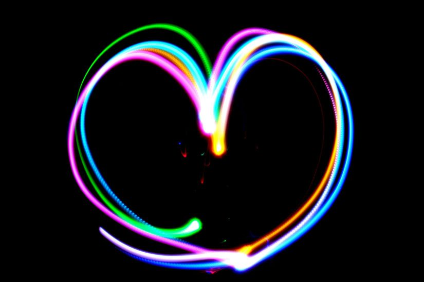 ... Cute Neon Heart HD Wallpapers | Backgrounds » Download Wallpaper ...