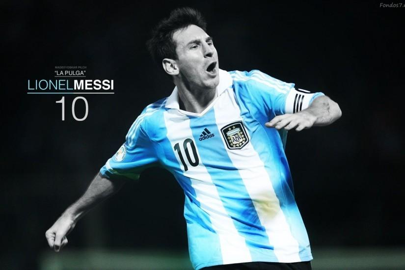 Lionel Messi 10 Argentina Footballers Picture #6751 Wallpaper .