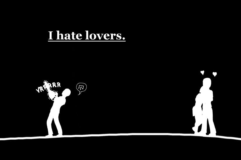 Humor - Dark Black Humor Sombre Chainsaw Love Alone Wallpaper