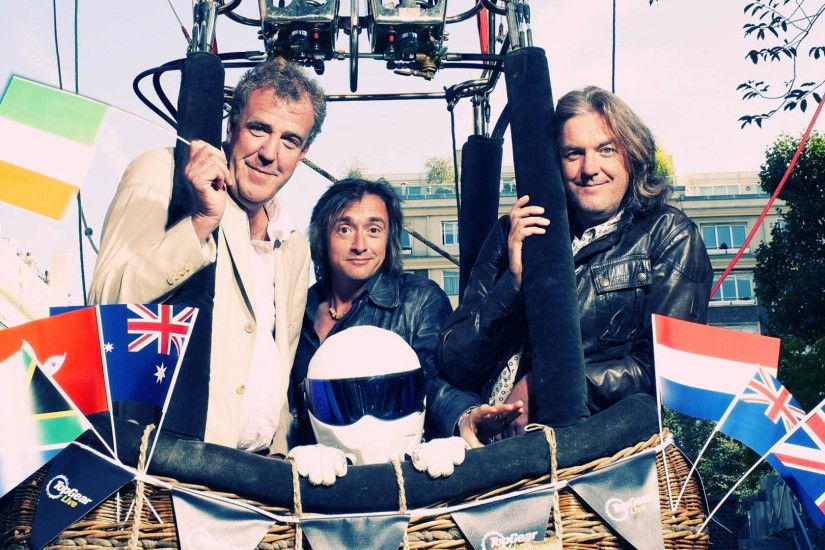 Jeremy Clarkson, Richard Hammond, James May & The Stig in a Hot Air Balloon