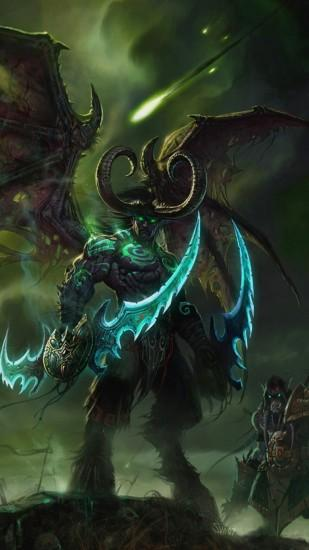 Preview wallpaper illidan stormrage, lord of outland, black temple, world  of warcraft,