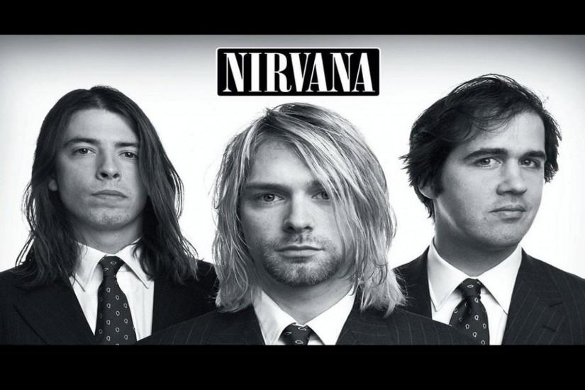 Preview wallpaper nirvana, band, members, suits, look 3840x2160