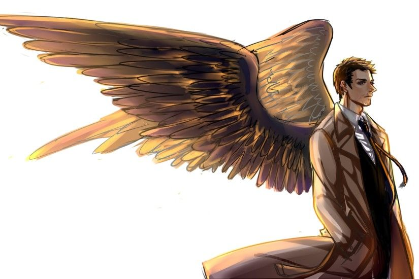 Tags: Anime, Pixiv Id 2295715, Supernatural, Castiel, Trench Coat, Wallpaper