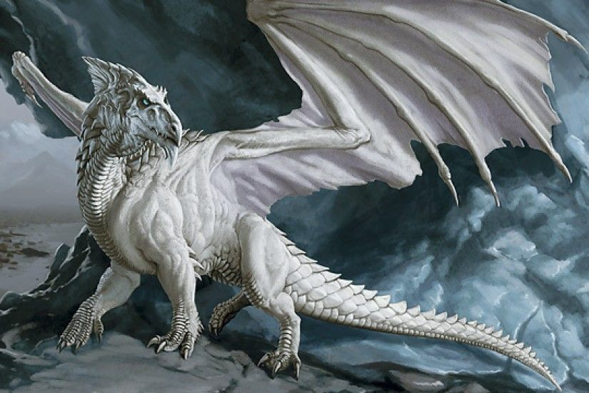 2560x1440 White Dragon Wallpaper - Wallpaper HD Base