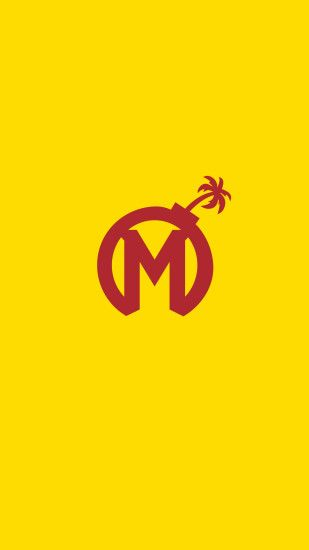 Overwatch League Florida Mayhem Phone Yellow Wallpaper #OverwatchLeague  #FloridaMayhem