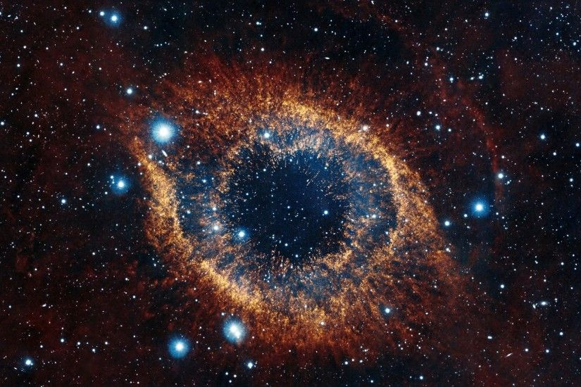 Preview wallpaper helix nebula, space, stars, explosion, brilliance  1920x1080