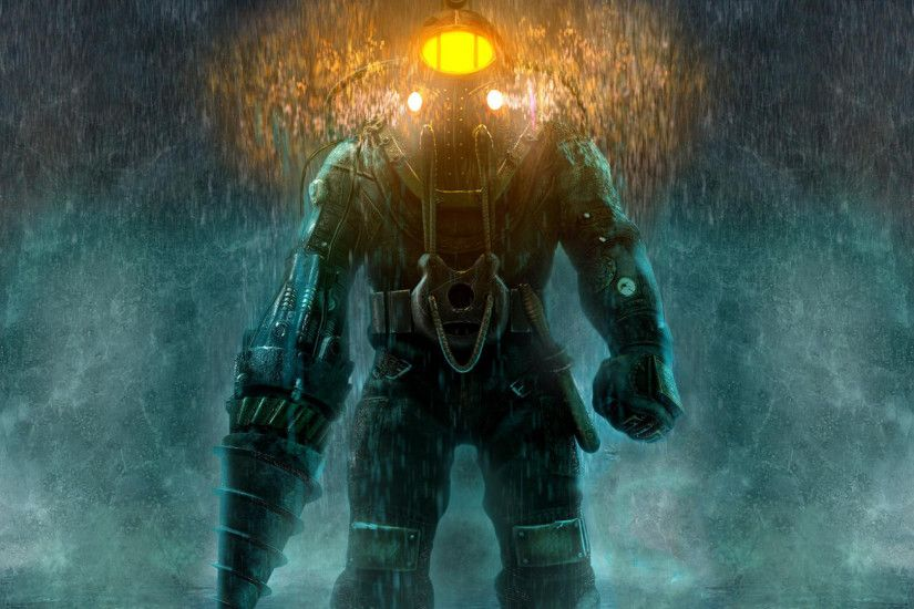 Full HD Wallpaper bioshock diving suit heavy rain .