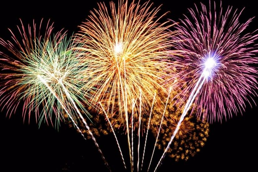 Colored Fireworks 4th of July 4K Wallpaper