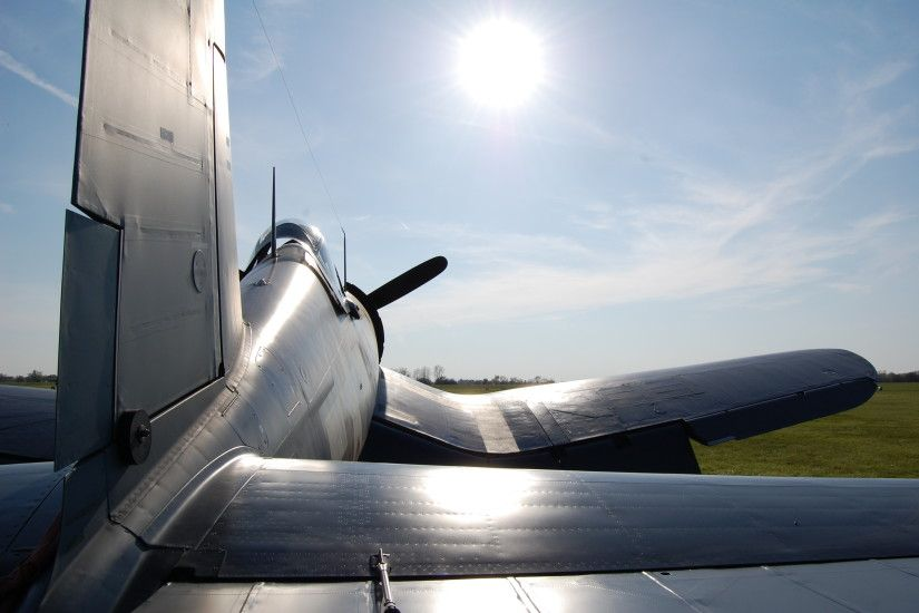 ... Vought F4U Corsair in the Setting Sun by comradeloganov