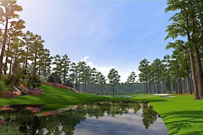 augusta national golf course wallpaper glass