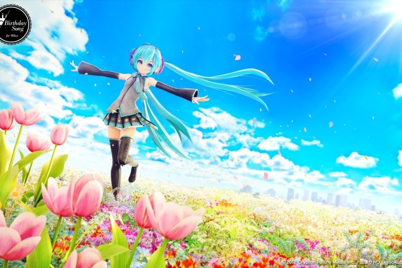 Hatsune Miku singing Vocaloid wallpaper Anime wallpapers