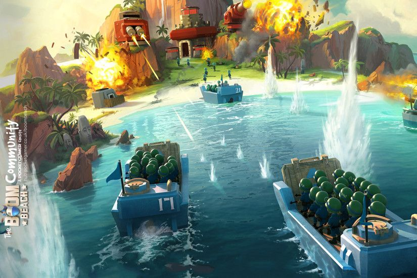 Boom Beach iPad Wallpaper