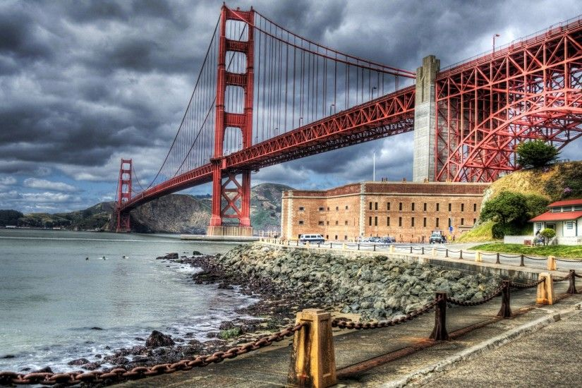 HDR, Bridge, River, Building, Golden Gate Bridge Wallpapers HD / Desktop  and Mobile Backgrounds