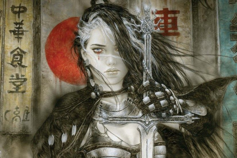 Luis Royo Fantasy Warrior Painting Art Sexy Babe Wallpaper At Fantasy  Wallpapers