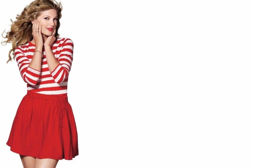 Taylor Swift in a red skirt