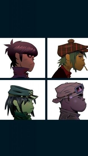 Preview wallpaper gorillaz, windows, light, heroes, characters 1440x2560